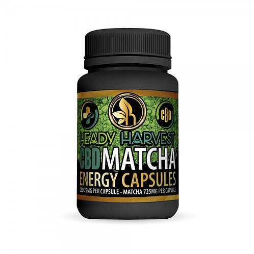 Heady Harvest CBD Matcha Energy 725mg 60ct