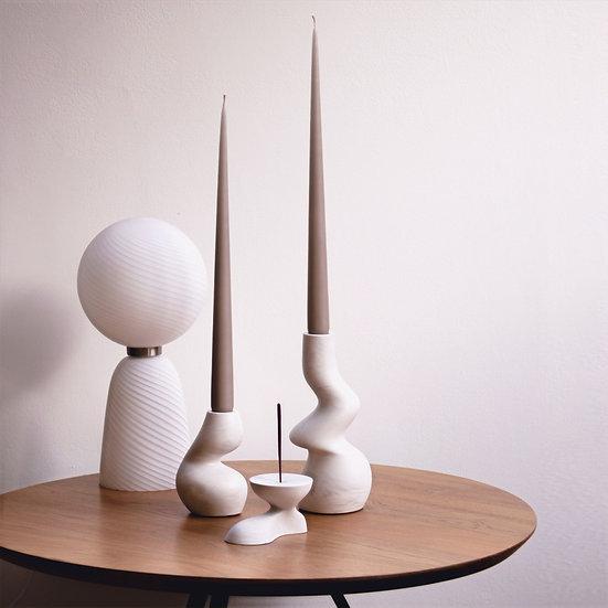[Set] 2 candle holders +Incense burner
