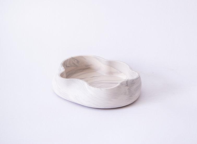 Jumony accessory trays - white marble finish