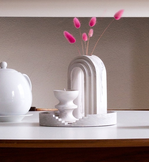 [Set] Scala tray + vase + candle holder