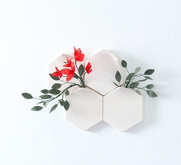 Teumsae on Wall_set of 4 & Handmade flowers