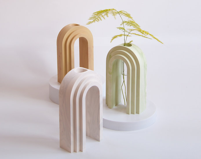 Scala collection - Marble finish vase / propagation station