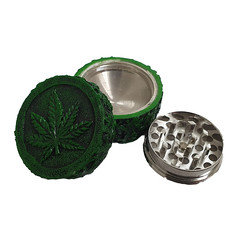 2 Part Green Textured Tobacco Grinder SM-1613
