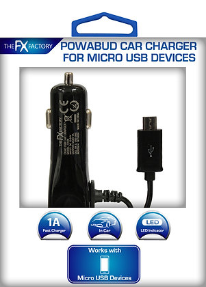 FX Factory Micro Usb Car Charger