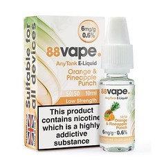 88 Vape E-LIquid Orange Pineapple Punch 6mg 0.6% 20 Pack