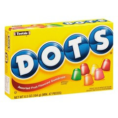 Dots Assorted Fruit Flavored Gumdrops 198g