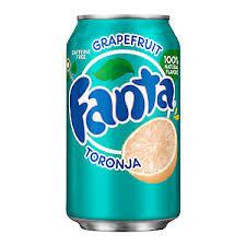 Fanta Grapefruit Toronja Flavoured Soda 355ml 12 Pack