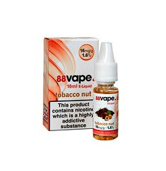 88 Vape E-Liquid Tobacco Nut 16mg 1.6% 10ml 20 Pack