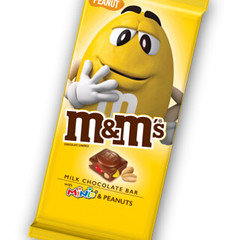 M&M's Extra Large Tablet Bar Peanut with Mini's 110g x 12
