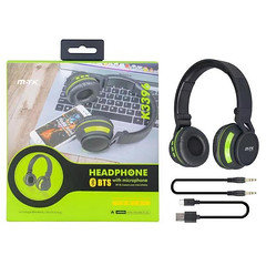 MTK BTS Headphone With Microphone K3396 (Black&Green)