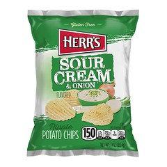 Herr's Sour Cream & Onion Potato Chips 28.4g