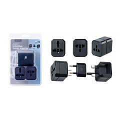A4317 Universal Travel Adapter US / EU / UK 3 in 1, White