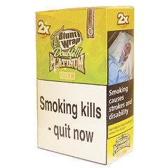Double Platinum Blunt Wraps Yellow 25 x 2 Packs