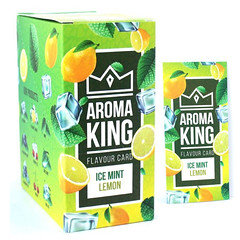 Aroma King Flavour Cards Ice Mint Lemon 25 Pack