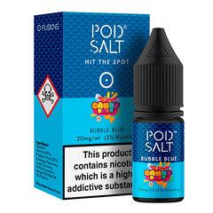 Pod Salt FUSIONS 10 ml Nicotine Salt E-Liquid Bubble Blue 20mg