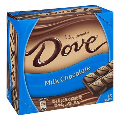 Dove Silky Smooth Milk Chocolate 40.8g X 18