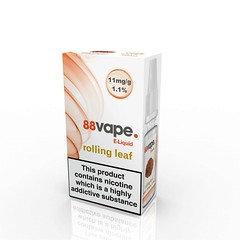 88 Vape E-Liquid Rolling Leaf 11mg 1.1% 10ml