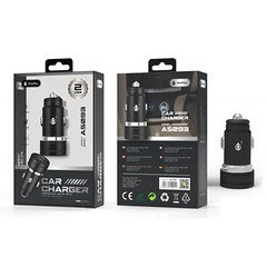 A5093 Car Charger with out cable Metal Elegant, 2.4A, 2 USB