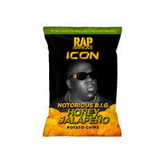 Rap Snacks The Notorious B.IG. Icon Honey Jalapeno Chips (56 Packets/box)