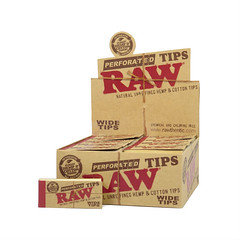 Raw perforated wide tips 50pk