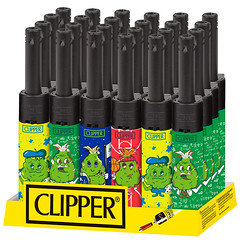 Clipper Mini Tube Lighter Weed Cogollos 24 Pack