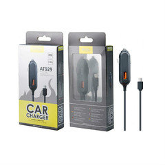 MTK car charger with micro usb AT929 blk