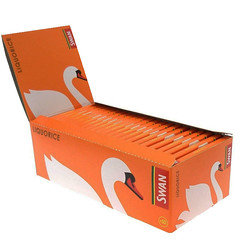Swan Liquorice Standard Size Rolling Papers 50 Per Box