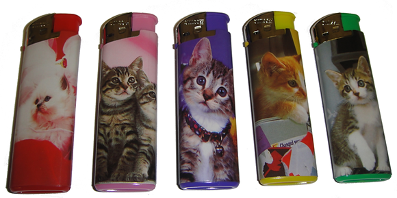 Cat Lighters Pack of 4