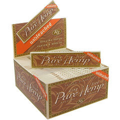 Pure Hemp King Size Unbleached Rolling Papers 50 Per box