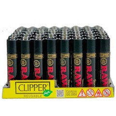 Clipper Raw Black Lighter 48 Pack