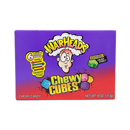 Warheads Chewy Cubes 113g X 12