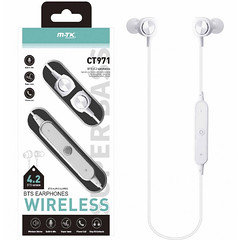 MTK BTS Wireless Earphone CT971 (White)