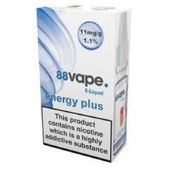88 Vape E-Liquid Energy Plus 11mg 1.1% 10ml 20 Pack