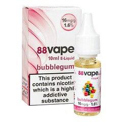 88 Vape E-Liquid Bubblegum 16mg 1.6% 10ml