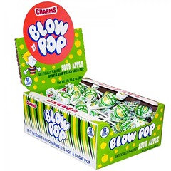 Blow Pop Sour Apple 18.4g 48 Pack