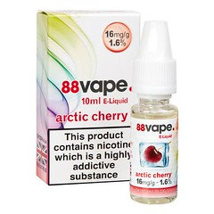 88 Vape E-Liquid Arctic Cherry 16mg 1.6% 10ml