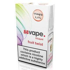 88 Vape E-Liquid Fruit Twist 11mg 1.1% 10ml 20 Pack