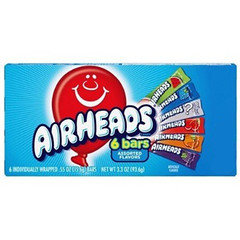 Airhead Bars Asssorted Flavours 12 Pack 93.6g