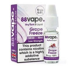 88 Vape E-Liquid Grape Freeze 6mg 0.6% 10ml 20 Pack