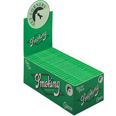 Smoking Green Cut Corners Standard Size Rolling Paper 50 Per Pack