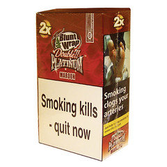 Double Platinum Blunt Wraps Maroon 25 x 2 Packs