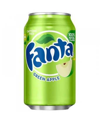 Fanta Green Apple Flavoured Soda 355ml 12 Pack