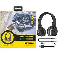 MTK BTS Headphone With Microphone K3396 (Black&Silver)