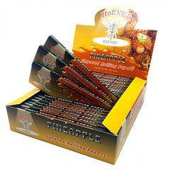 Hornet Pineapple King Size Flavoured Rolling Paper 25 Per Box