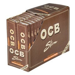 OCB Slim Virgin Connoisseur Rolling Paper + Filter Tips 34 Per Box