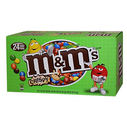 M&M Crispy Chocolate Candies 38.3g 24 Pack