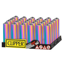 Clipper Icy Metal Lighter 30 Pack