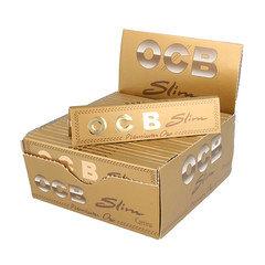 OCB Slim Gold King Size Rolling Paper 50 Per Box