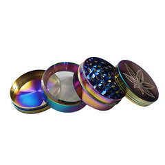 4 Part Iridescent Leaf Grinder HX850PXC 4Leaf