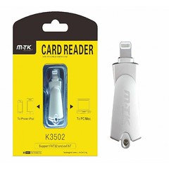 K3502 Card Reader for Iphone Lightening, 5/6/7/8/X